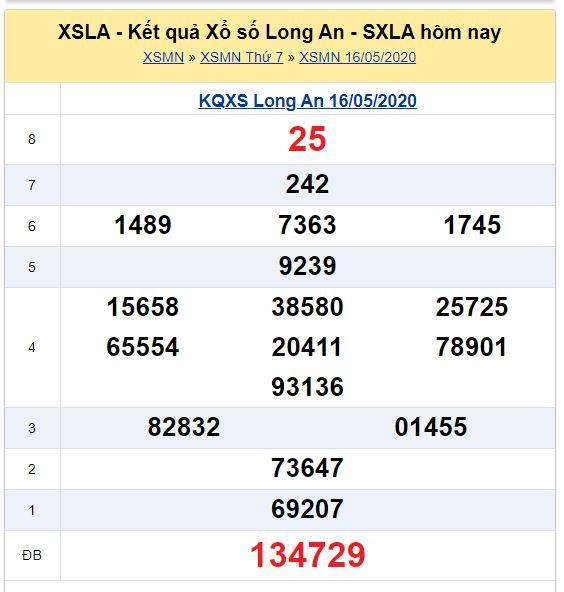 Soi cầu XSMN đài Long An 23-05-2020